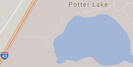 Locate Potter Lake in the town of Troy, Walworth County, Wisconsin